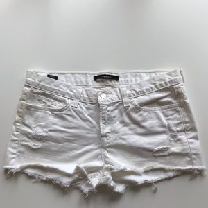 J Brand distressed cutoff shorts in Vixen